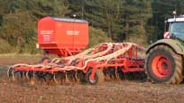 12m Eco-Drill direct drilling WW into Bean stubble.